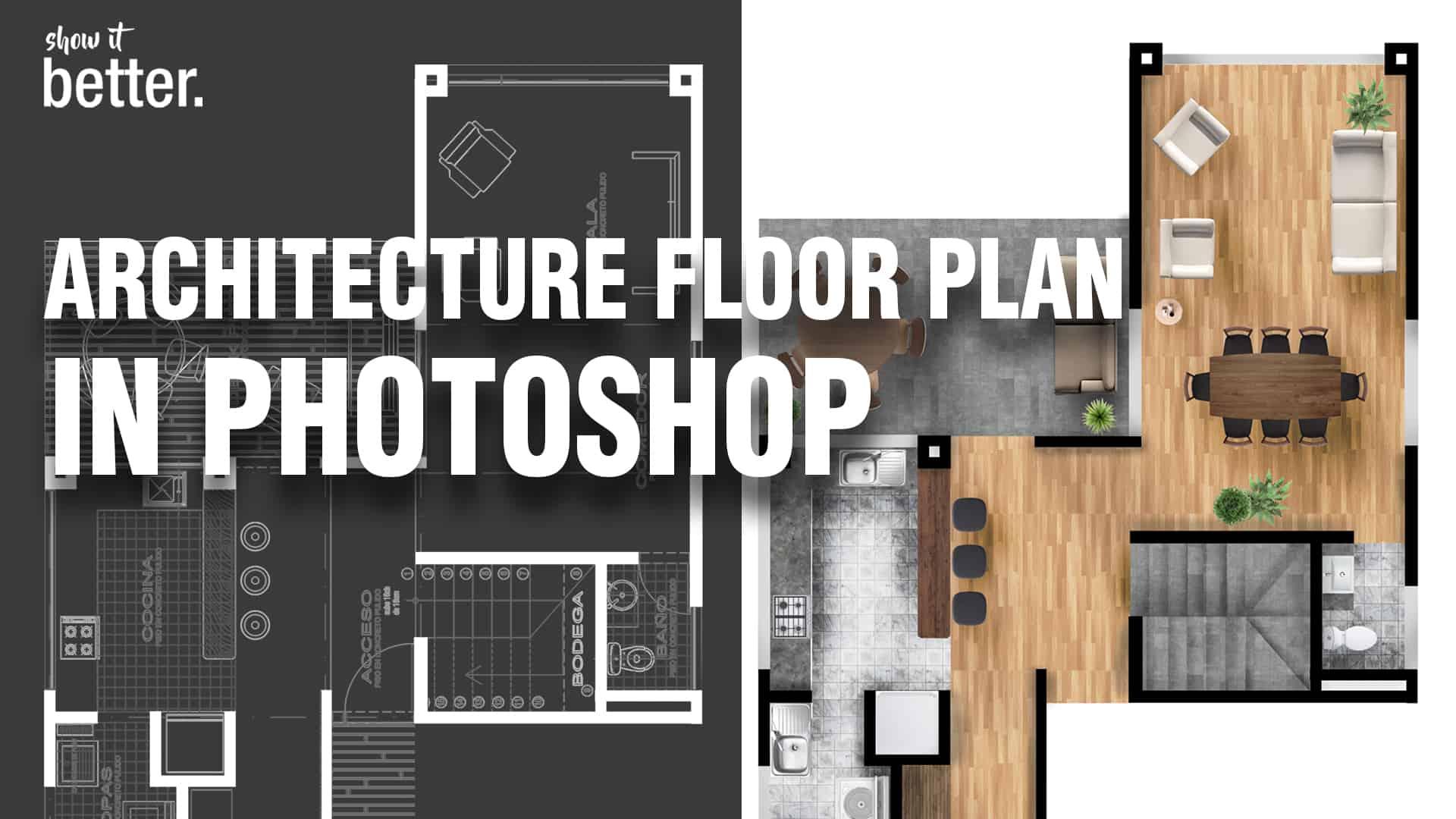 Improve Your Floor Plans In Photoshop